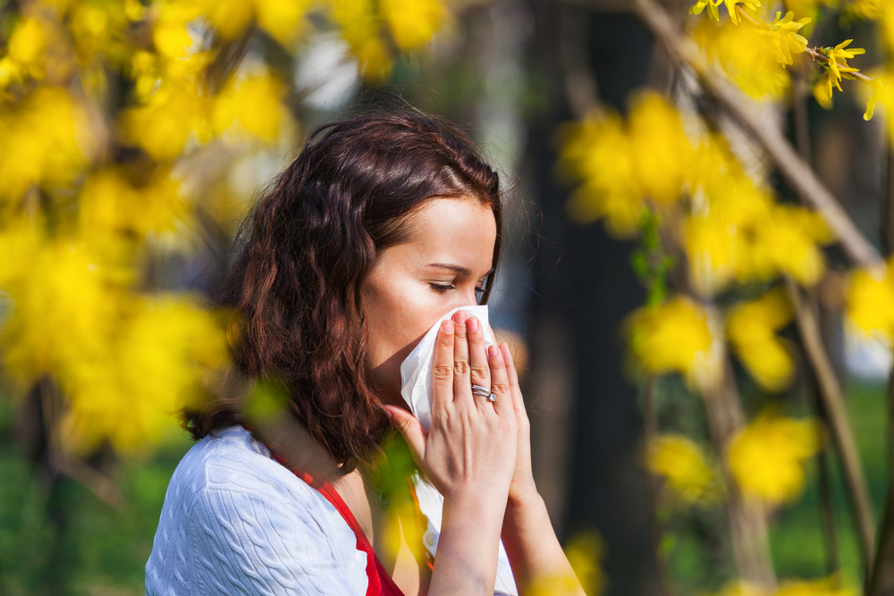 Woman with allergies in Chula Vista.